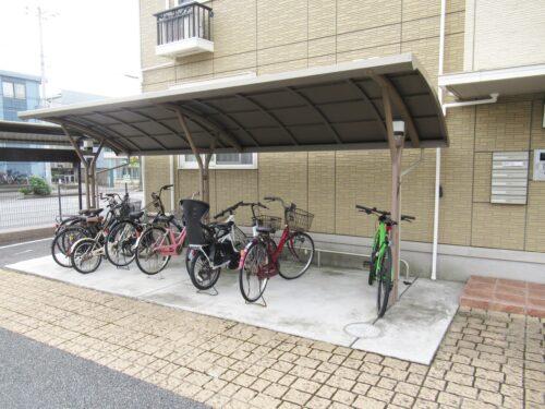 駐輪スペースは2箇所あります!