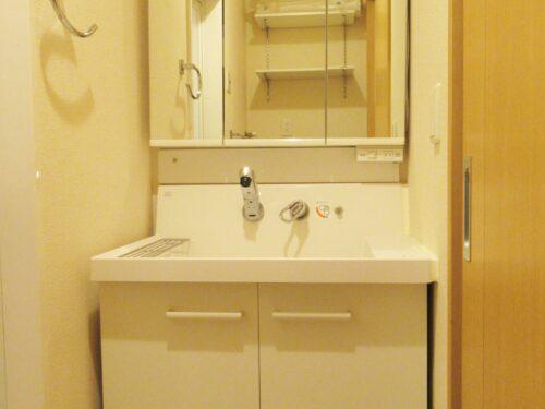 シャワー付の独立洗面台♪